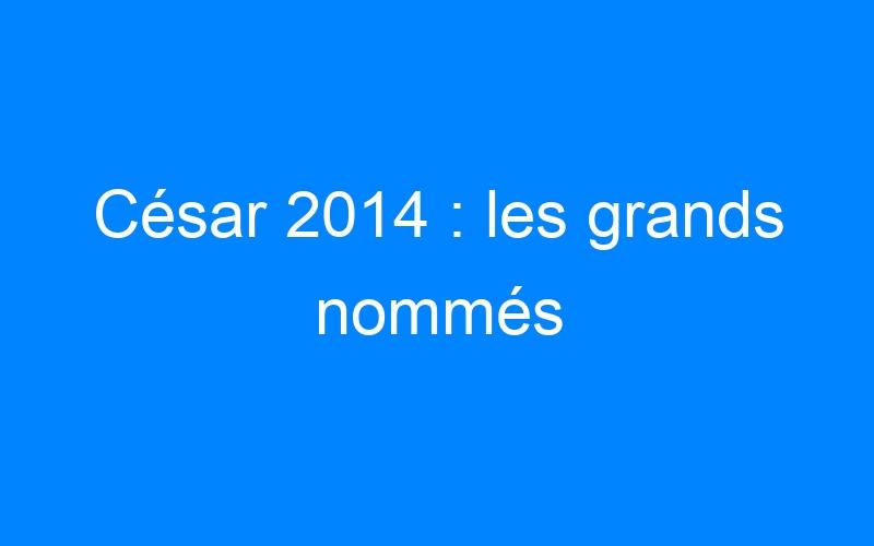 César 2014 : les grands nommés