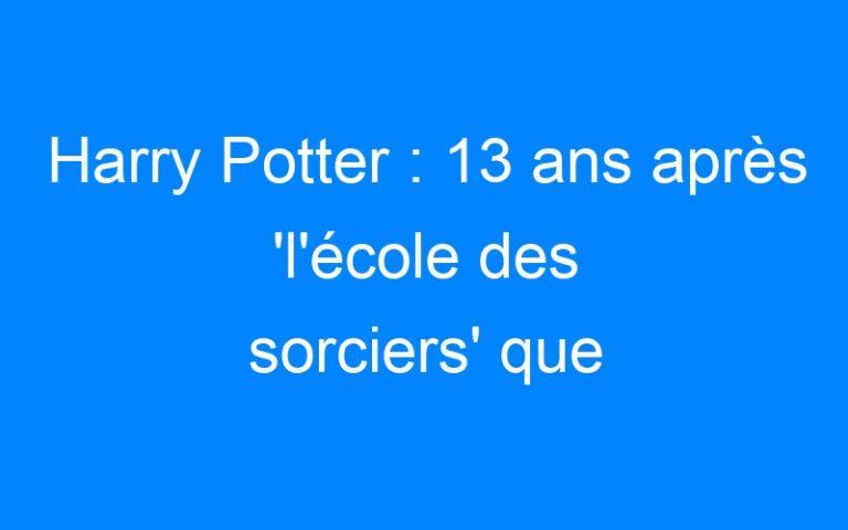 Harry Potter : 13 ans après 'l'école des sorciers' que sont-ils devenus ?