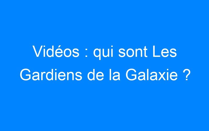 Vidéos : qui sont Les Gardiens de la Galaxie ?
